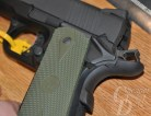 Picture shows the left side of a polymer-framed 1911 made by Rock River Arms.
