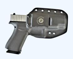 Glock 43 X pistol in a Kydex holster