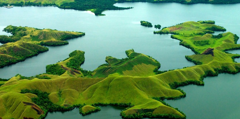 Foto udara danau Sentani di provinsi Papua. Mokhammad Edliadi/CIFOR