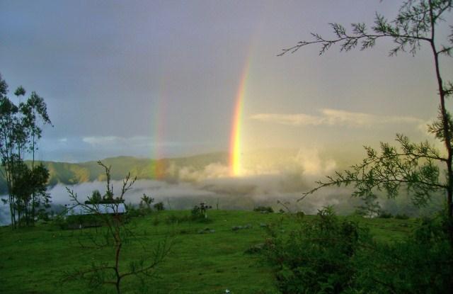 Rainbow in Cajamarca, Peru. Luis Calderón Vera