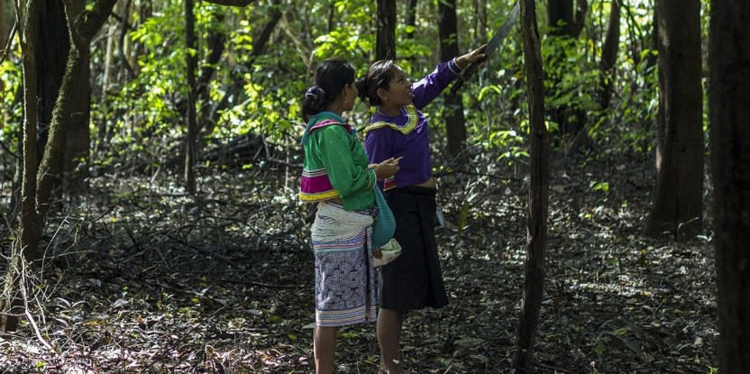 Like these Shipibo Konibo women, female scientists gain knowledge and confidence when they work together.