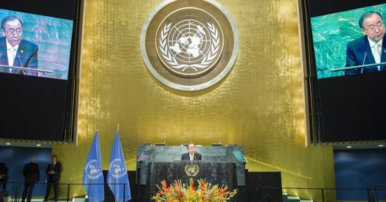 UN Secretary-General Ban Ki-moon opens the High-level Event on the Entry into Force of the Paris Agreement on 21 September 2016. Rick Bajornas/UN Photo