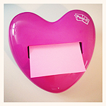 Post-It Notes Pop-up Heart Dispenser