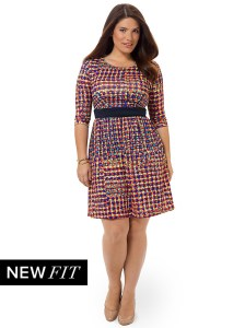 TRISTE Colorfully Tiled Chelsea Dress