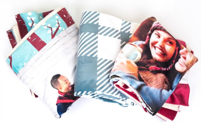 Three sherpa blankets from Collage.com