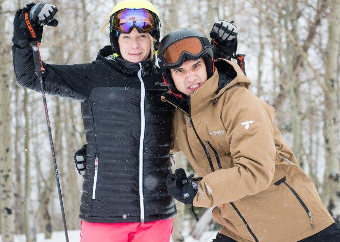 Tyler Posey and Hannah Kearney at Sundance