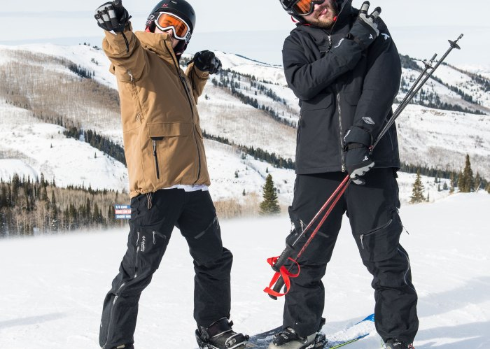 The Chainsmokers skiing at Sundance