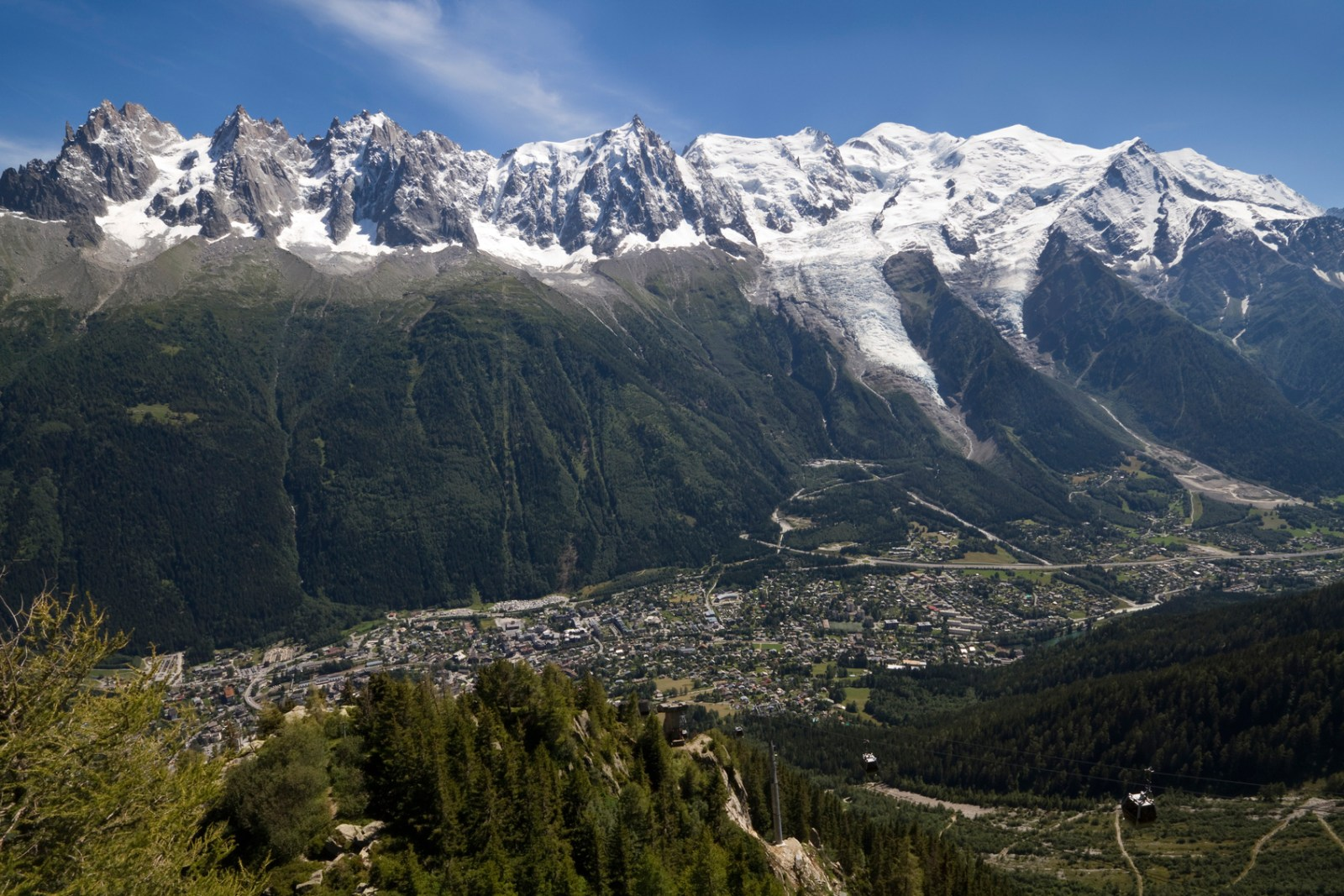 City of Mont Blanc with the mountain range in the background