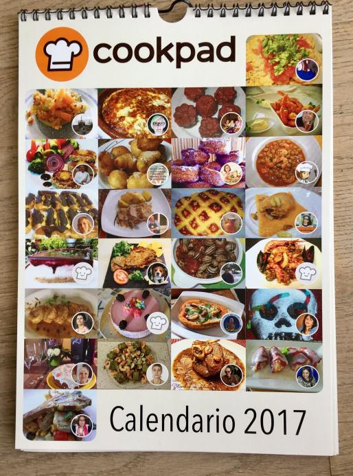 calendario de Recetas de Cookpad 2017