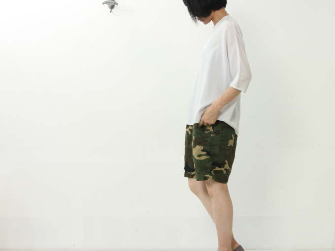 Ordinary Fits(オーディナリーフィッツ) EASY SHORTS linen camo