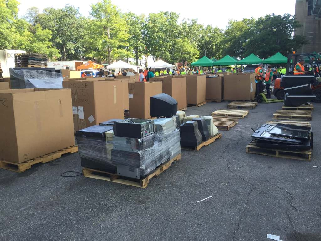 Large electronics collected