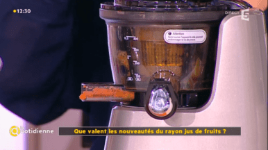 extracteur-jus-kuvings-france5-comparaison-centrifugeuse