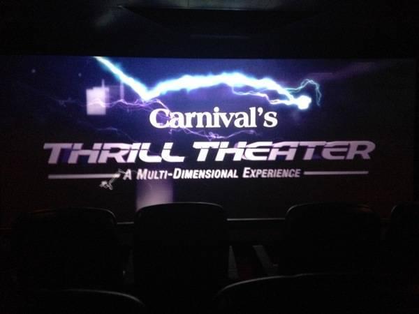Carnival Breeze Thrill Theatre