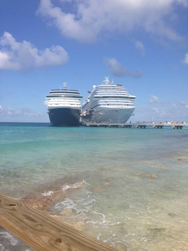 Carnival Breeze at Grand Turk port of call