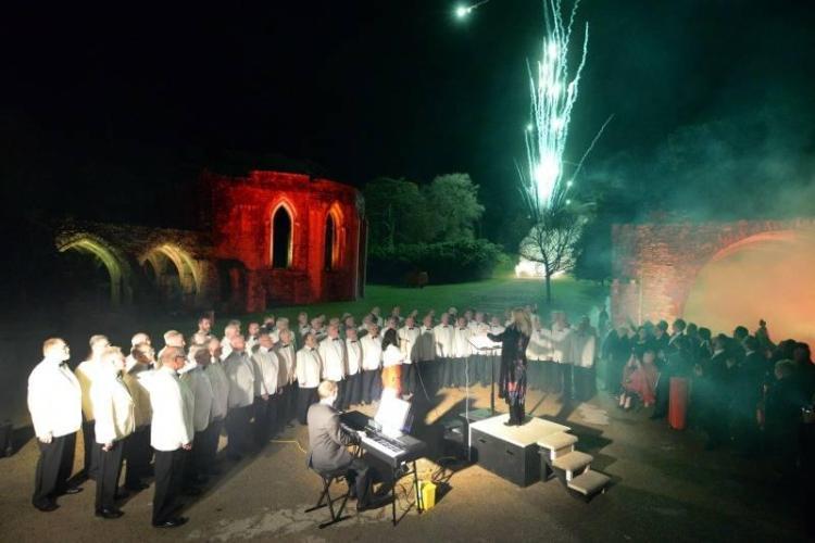 Morriston Male Voice Choir Performing
