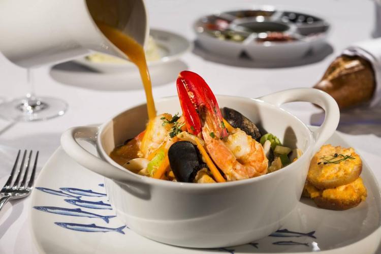 Bouillabaisse Marseillaise at Sea Salt Restaurant - Deck 2 Midship Koningsdam - Holland America Line