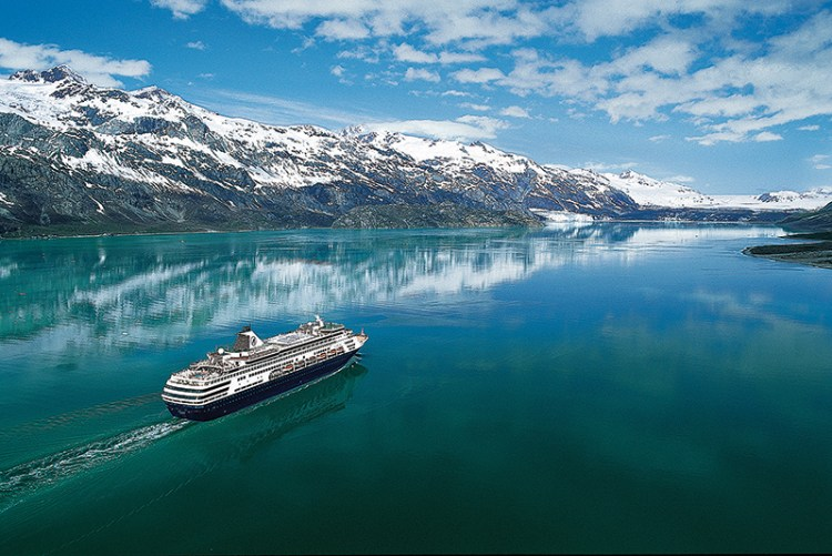 Holland America ship cruising Alaska