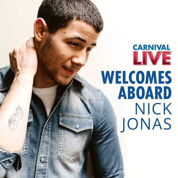 Nick Jonas performing for Carnival Live