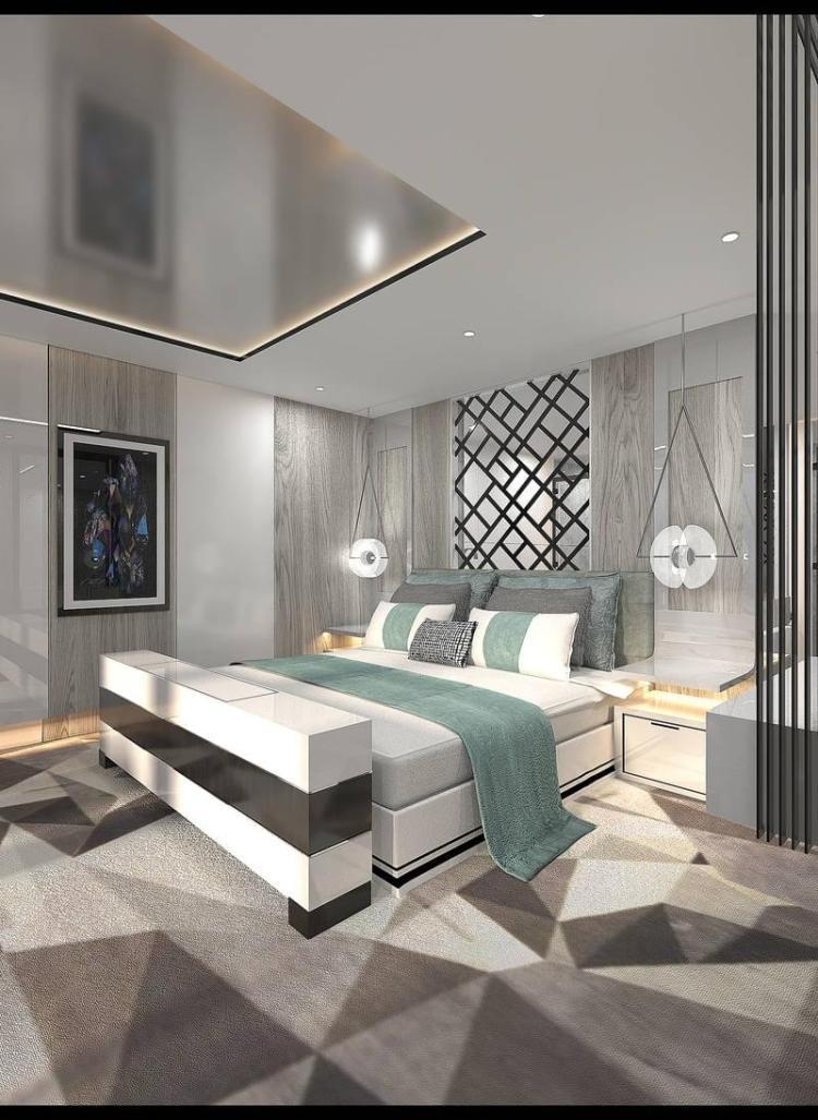 Royal Suite bedroom on Celebrity Edge
