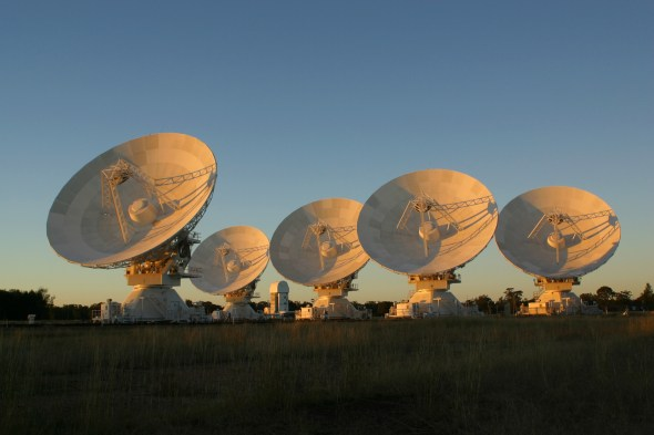 CSIRO's Australia Telescope Compact Array. (Photo: David Smyth)