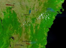 Satellite image looking down on southeast NSW