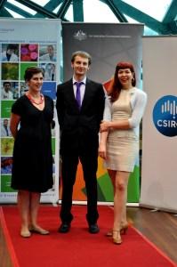 Kate Patterson, Chris Hammang and Maja Divjak on the red carpet.