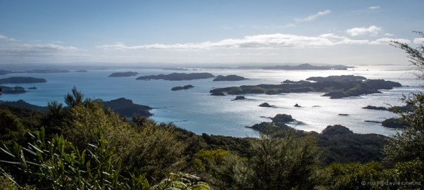 Bay of Islands from the Cape Brett track