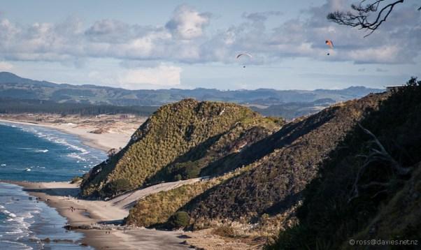 Looking back to Mangawhai Heads beach from the Mangawhai Cliff Top Walkway