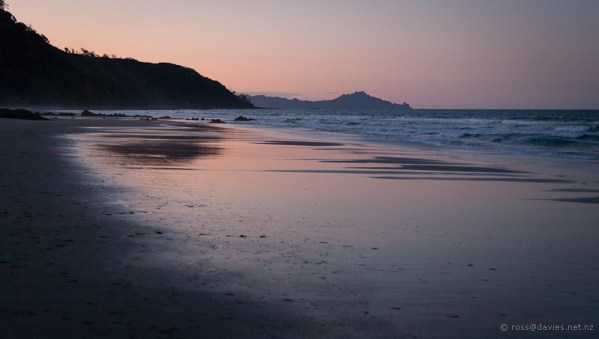 The last stretch of Mangawhai Cliff Top Walkway - back along Mangawhai Heads beach