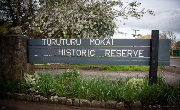 Turuturu Mokai Historic Reserve sign