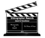 "Pascal wins award of excellence for ""On Wings of Hope"" cinematography"