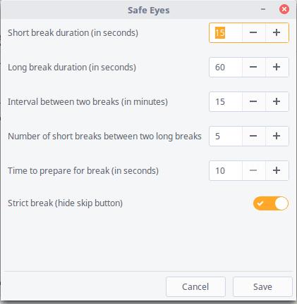 Protege tu vista con SafeEyes una excelente alternativa a Eyeleo