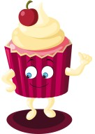 Illustration vectorielle mascotte monsieur cup cake