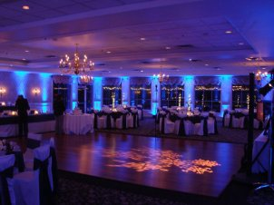 blue wedding up lights