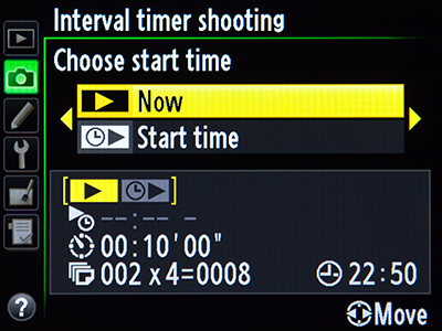 Nikon d600 interval timer vs time lapse photography shooting difference