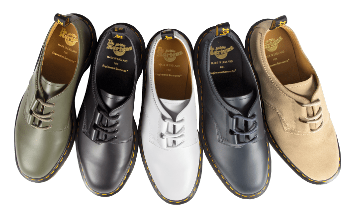 The Dr. Martens x Engineered Garments SS17 collaboration.