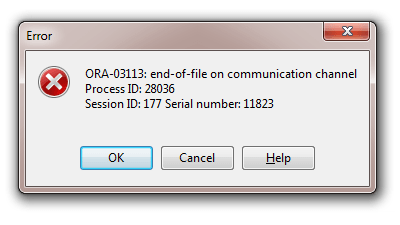 ORA-07445 error in a merge query results in terminated connection and server-side core dump