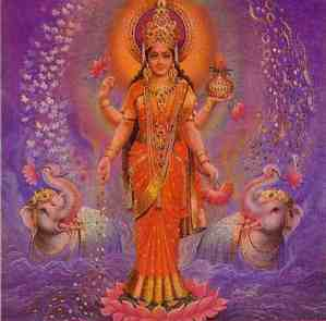 lakshmi with elephants