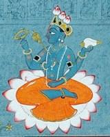 Lord Vishnu and Sudarshana Chakra