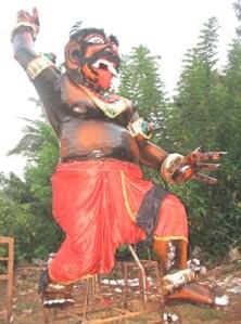 Effigy of Narkasur for Diwali in Goa