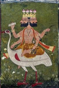 Brahma on hamsa