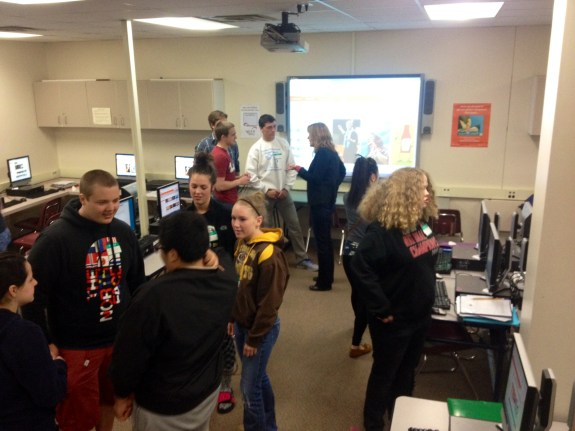Fridley High School's first TED-Ed Club Meeting