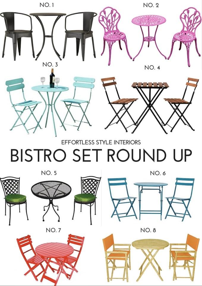 bistro set round up