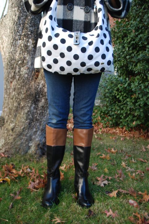 two toned riding boots