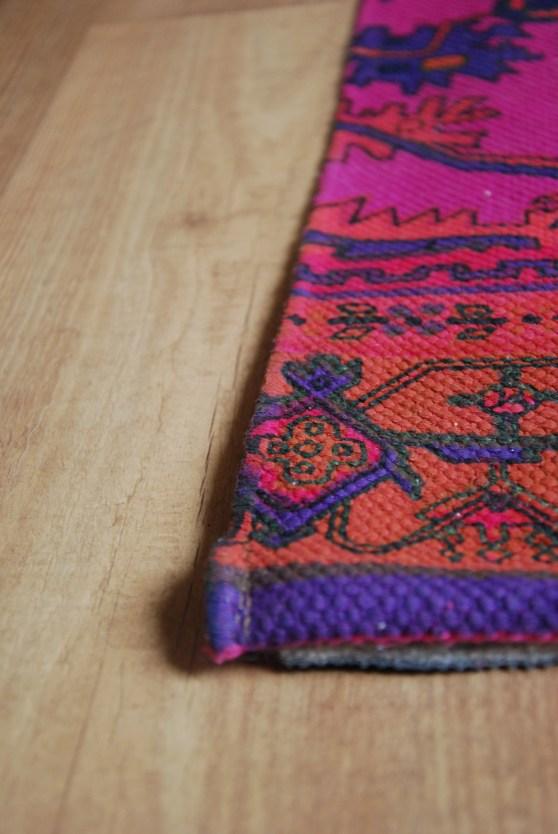 pink and purple oriental rug