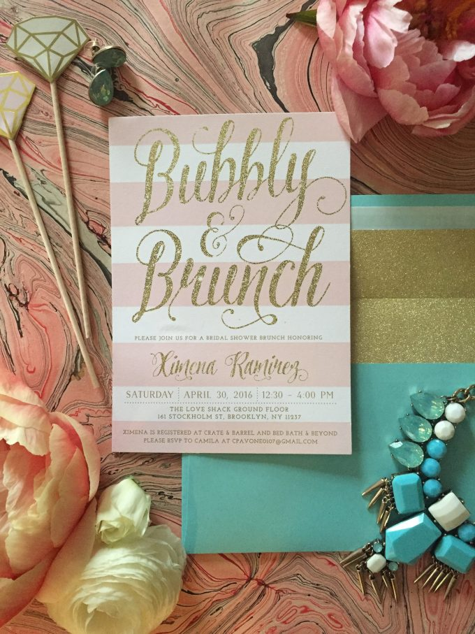 sea paper design invitation