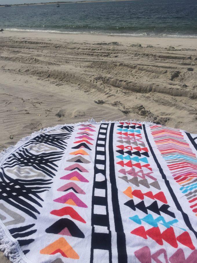 circle beach towel