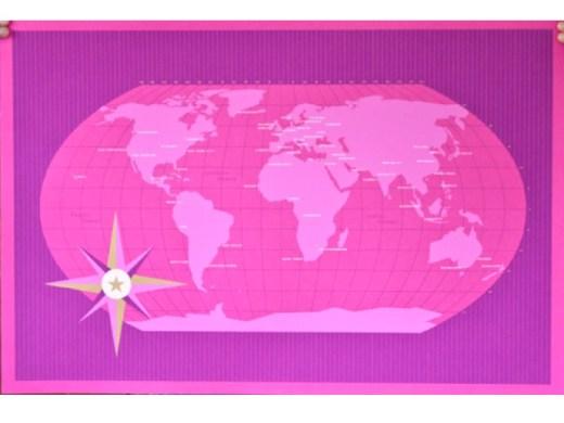 magenta world map