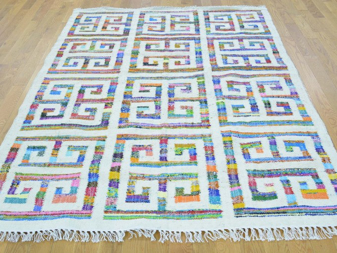 greek key rug with colors