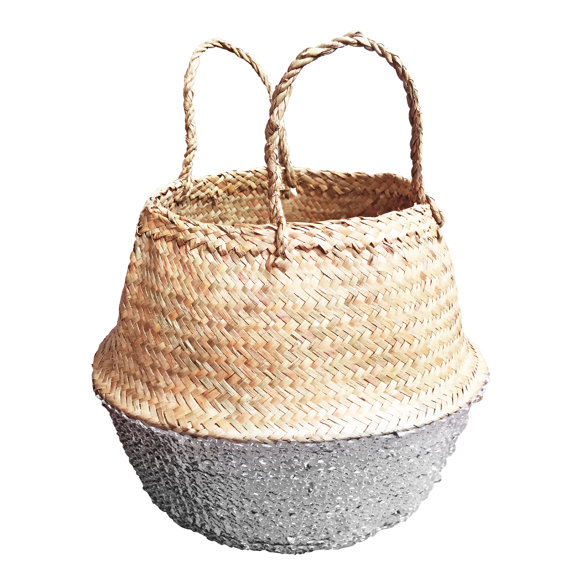 silver sequin bottom basket